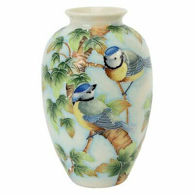 Old Tupton Ware British Birds Bluetit Vase 8  TW7952 • 44.99£