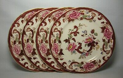 4 X MASONS FRUIT MANDALAY RED 7 3/4  SALAD PLATES IN VERY GOOD CONDITION • 46.50£