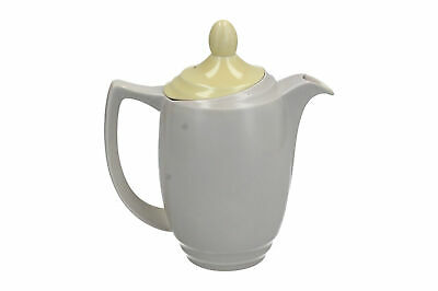 Branksome China Tea / Coffee Pot Grey & Yellow Vintage • 19.95£
