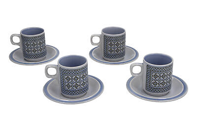 Hornsea Tapestry 4 X Coffee Cups & Saucers • 17.95£