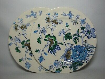 2 X MASONS BELVEDERE 7 3/4  SALAD PLATES IN VERY GOOD CONDITION • 18.50£