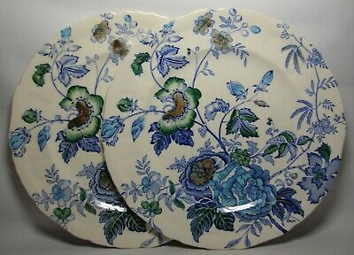 2 X MASONS BELVEDERE 10  DINNER PLATES IN VERY GOOD CONDITION • 24.50£