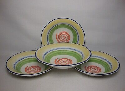 4 X STAFFORDSHIRE  SWIRLS  6 3/4  CEREAL BOWLS IN VERY GOOD CONDITION • 16.50£