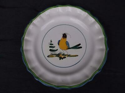 871/ Vintage Italian Cantagalli Faience Pottery Plate With Hand Painted Cockerel • 9.99£