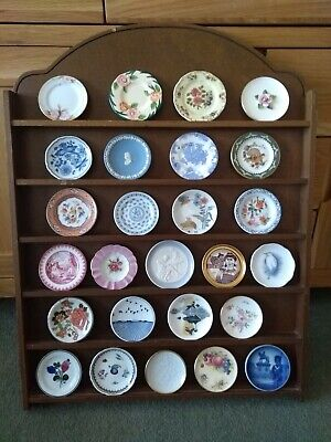 Franklin Mint 26 Miniature Plates Of The World's Great Porcelain Houses W/ Rack  • 69.99£