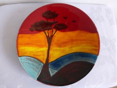 Anita Harris/Vicky Higginbotham,Trial 24 Cms Plate, Beautiful African Sunset. • 33£