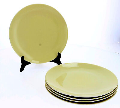 5 X Branksome China Plates Yellow Vintage 23 Cm (Dinner ?) • 34.95£