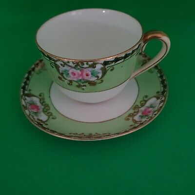 A Beautiful Hand Painted And Gilded Noritake Cup And Saucer. • 25.99£