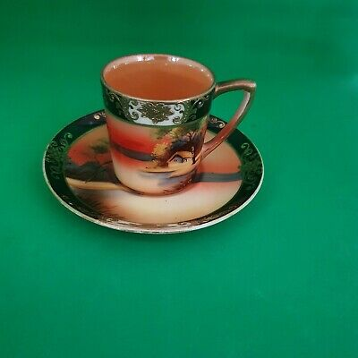 Hand Painted And Gilded Noritake Coffee Can And Saucer • 19.99£