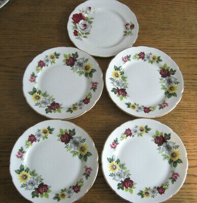 4 Bone China Side Plates Windsor Pretty Flowers 1 Gainsborough Floral Tableware • 4.99£
