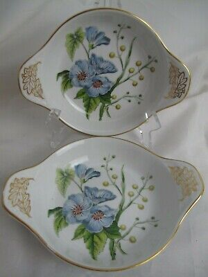Spode STAFFORD FLOWERS Sida & Acacia Flowers Two Gratin Dishes • 22£