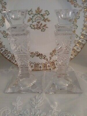 Beaconsfield Crystal Pair Of Candlesticks • 110£