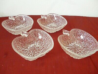 Vintage Apple Shaped Glass Desert Bowls  Set Of 4 Mint Condition • 3.99£