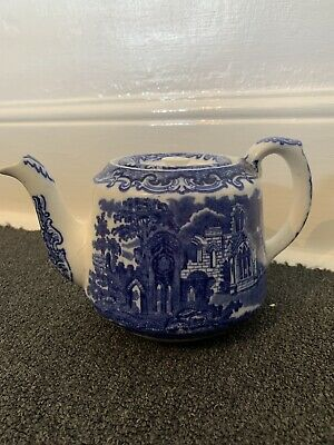 George Jones And Sons Abbey 1790 Blue And White Teapot • 4.99£