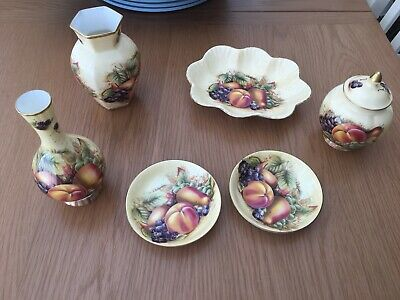 Job Lot Of 6 Pieces Of Aynsley China Orchard Gold Dishes Urn Vases Noel Perfect • 16£