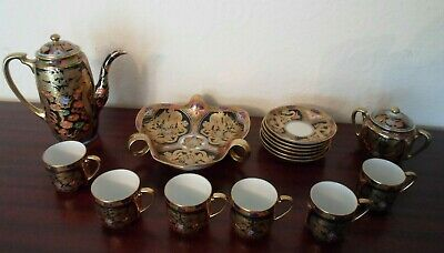 Antique, Noritake, Coffee Set, 16 Pieces, Hand Painted With Gilt Dragons,  • 150£