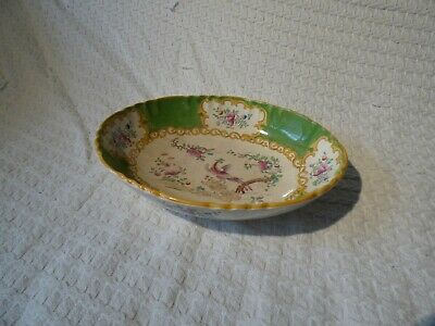 Antique Mintons Cockatrice Pattern Oval Serving Dish Bowl Tureen • 14.99£