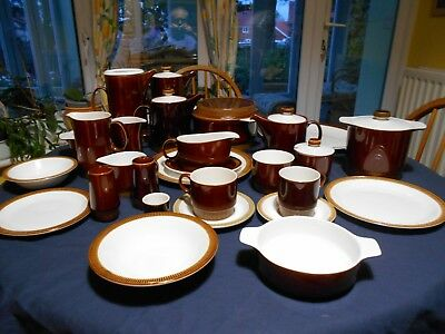 Poole Brown Chestnut-  Sets  From Dinner Set -please Select From Drop Down Menu • 18£