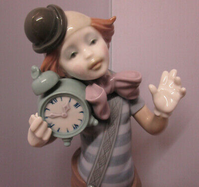 Lladro Figurine  CLOWN ALARM CLOCK  Model 5056    MINT  • 36£