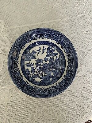 """10 X Vintage Churchill England Blue Willow Pattern 6""""Desert/Pudding/Cereal Bowls • 15£"""
