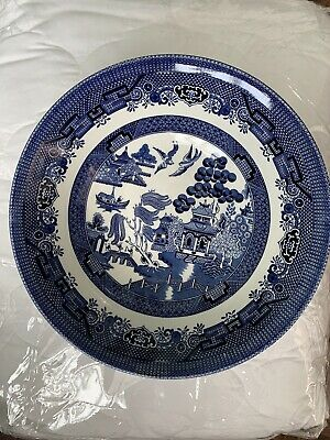 """6 Vintage Churchill England Blue Willow Pattern 24"""" Desert/Pudding/Cereal Bowls • 15£"""