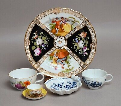 Group Of Antique And Later German Meissen Porcelain - Tea Cups Etc • 4.20£