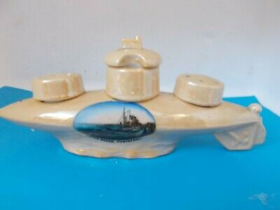Vintage Crested China, Submarine Watch House Porthcawl (condiment Set). • 4.99£