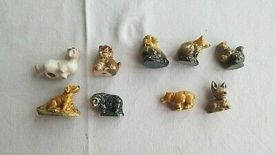 Collectible JOB LOT WADE Ceramic Set Of 9 Domestic & Wild Animal Figurines • 10£