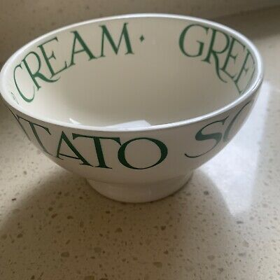 Emma Bridgewater French Bowl Green Toast Discontinued Pea & Ham Greengages • 26£