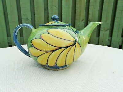 Hand Painted Studio Pottery Teapot From Zimbabwe Africa Unique FAB • 55£
