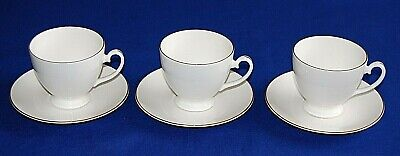 Royal Grafton First Love 3 X Tea Cups & Saucers. 1st Quality.  • 19.99£
