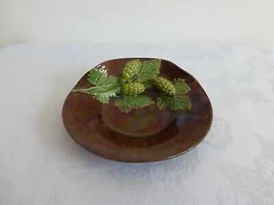 Rye Pottery, Early 'Hopware' 13 Cms Wide Dish. Marked A/S/W/Rye. Great Condition • 55£