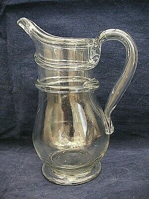 Antique Georgian Glass  Jug With Hollow Handle  • 89.99£