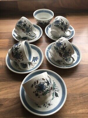 Woods And Son Blue Meadow Coffee/tea Cups..cute • 4£
