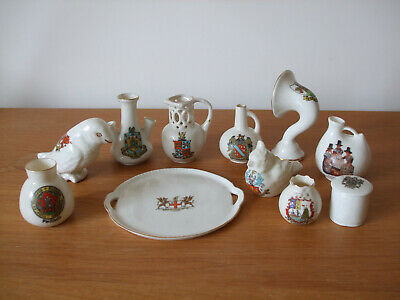 Collection Of 11 Pieces Of Crested Ware - Various Makes And Crests • 4.99£