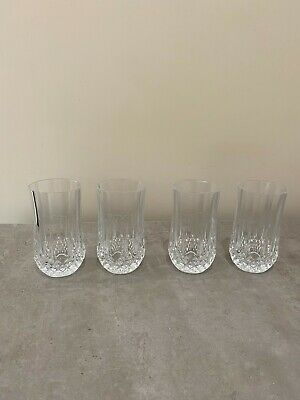 CRYSTAL D'Arques Longchamp Crystal Tumbler Glasses X 4 - Excellent Condition • 11.99£
