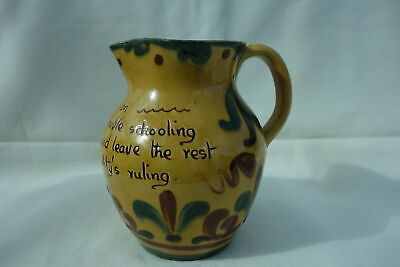 Torquay Aller Vale Kerswell Daisy Harvest Jug Motto • 20£