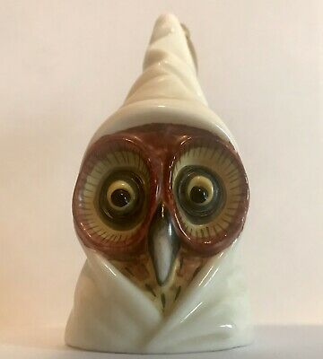 1891 Royal Worcester Hooded Owl Candle Snuffer Extinguisher  • 130£