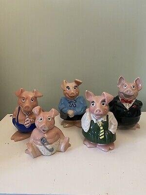 NatWest Pigs - Full Set - Wade - Excellent Condition- Original Stoppers • 12.50£