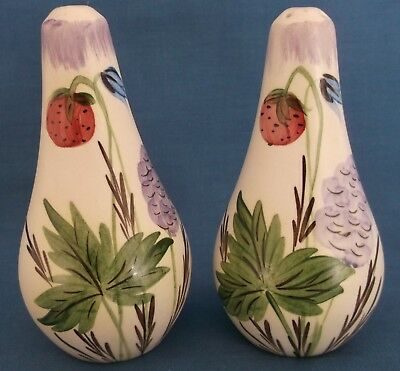 Vintage Radford Harebell Strawberry Salt Pepper Shakers Pots Cruet Art Deco Rare • 24.99£