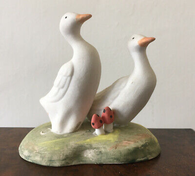 Irish Porcelain Geese/ducks Ornament With Toadstools. • 10£