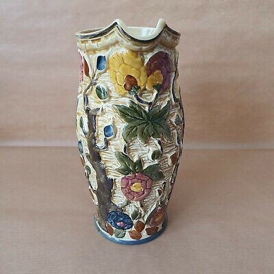 Indian Tree  H J Wood  Hand Painted Tall Jug Pitcher • 6.50£
