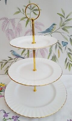 Royal Albert  Val D'or  XL 3-tier Cake Stand ***PRICE REDUCED*** • 12.99£