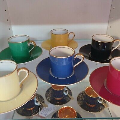 Harliquin Set Of Six Noritake Coffee Cans And Saucers • 59.99£