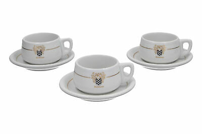 3 X Rombouts Thomas Coffee Cups White & Gold • 19.95£