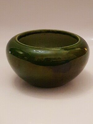 QUALITY BRETBY POTTERY (TOOTH & Co) ART DECO GREEN BOWL 1644C (A9) • 26£