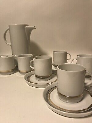 Thomas Platinum Porcelain Coffee Set German Vintage Demitasse Modernist MCM • 59£