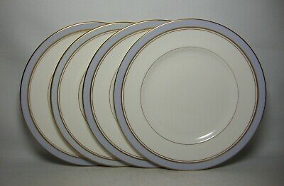 4 X ROYAL WORCESTER HOWARD ~ SKY BLUE 8  SALAD PLATES IN V/G CONDITION • 36.50£