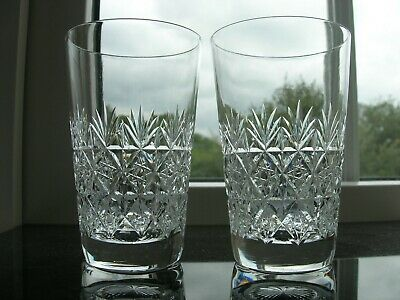 Webbs -  Wellington  Cut - Two Small Whisky Glasses - Signed. • 22£