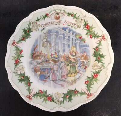 Brambly Hedge Royal Doulton Candlelight Supper 8  Plate Christmas Midwinter  • 29.99£